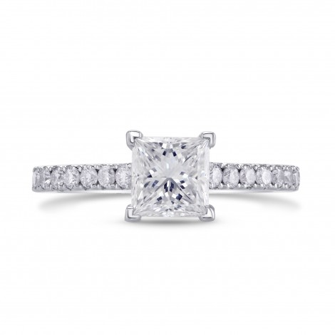 GIA, Princess-cut Diamond Engagement Ring, SKU 27844R (1.34Ct TW)