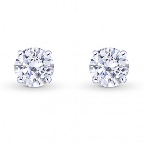 GIA, Round Brilliant Diamond Stud Earrings, ARTIKELNUMMER 27863R (1,40 Karat TW)