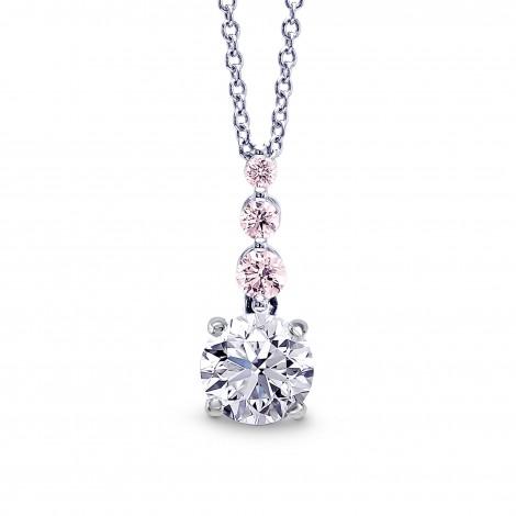 White & Pink Diamond Drop Pendant, SKU 27869R (0.78Ct TW)