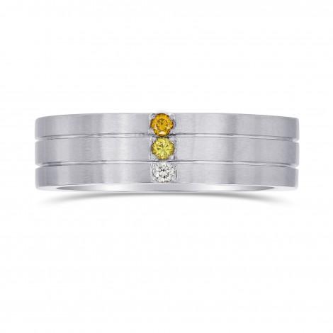 Gent's Graduated Yellow Diamond Band Ring, SKU 27977R (0.07Ct TW)