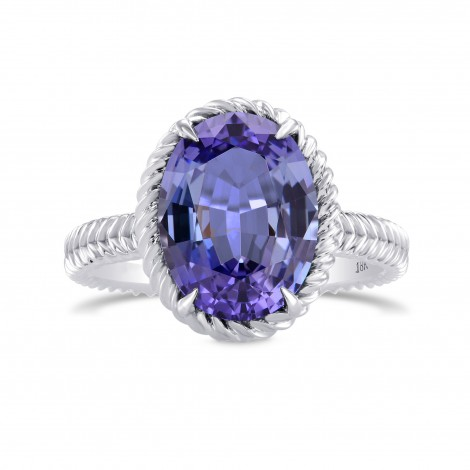 Blue Oval Tanzanite Designer Ring, SKU 280328 (4.04Ct)