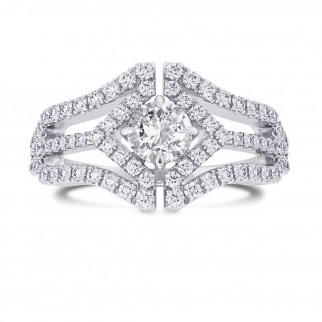 Colorless Round Brilliant Diamond Halo Ring, ARTIKELNUMMER 28087R (0,88 Karat TW)