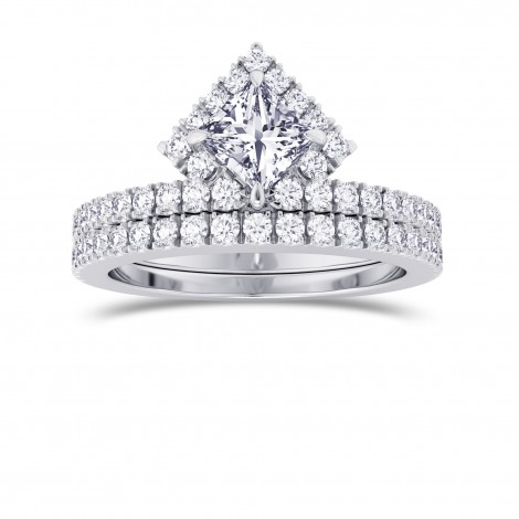 Princess Cut Halo Diamond Engagement Ring & Wedding Band Set , SKU 28089R (1.20Ct TW)