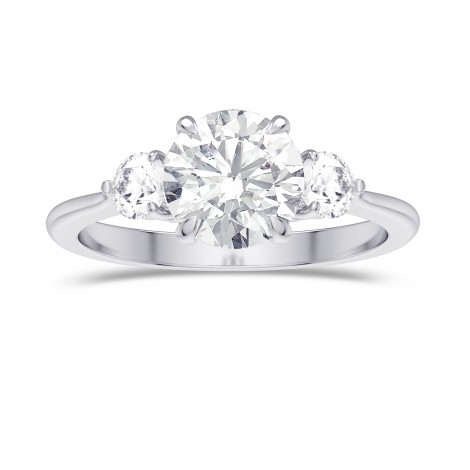 GIA  Round Brilliant 3 Stone Diamond Ring, ARTIKELNUMMER 28090R (1,90 Karat TW)