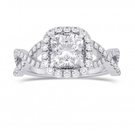 Cushion Diamond Cross-over Halo Ring, SKU 28095R (1.95Ct TW)