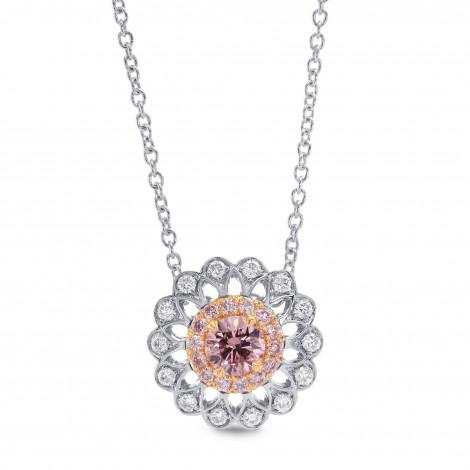 Pink Diamond Filigree Pendant (0.34Ct TW)