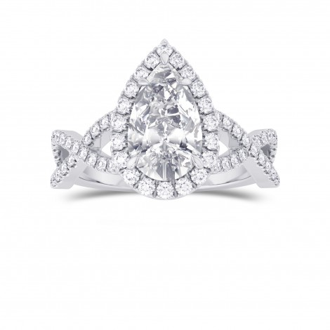 Pear Shape GIA Diamond Cross-over Halo Ring, ARTIKELNUMMER 28111R (1,95 Karat TW)