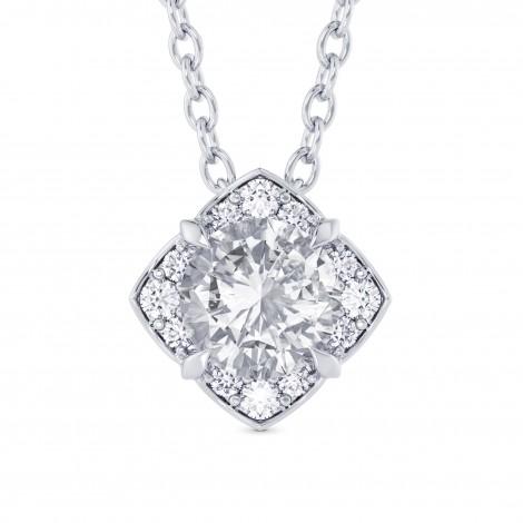 Round Brilliant Diamond Halo Pendant, ARTIKELNUMMER 28114R (0,82 Karat TW)