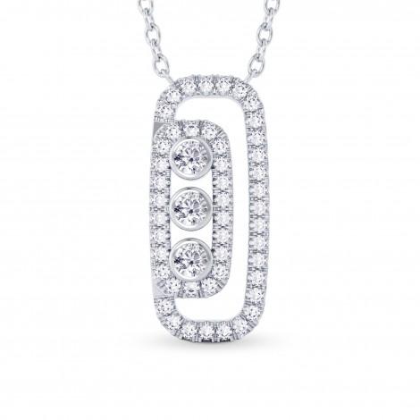 Round Brilliant Diamond Drop Pendant, SKU 28115R (0.56Ct TW)