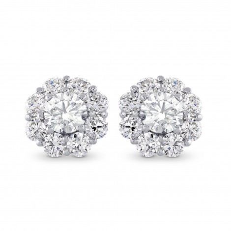 Round Brilliant Diamond Halo Earrings, ARTIKELNUMMER 28119R (2,30 Karat TW)