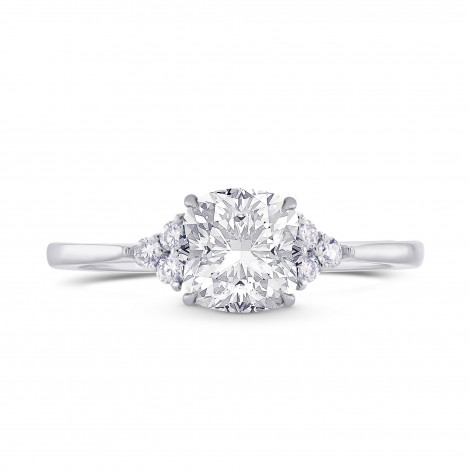 GIA Cushion Diamond Accented Ring, SKU 28120R (1.10Ct TW)