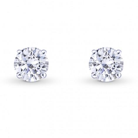 Round Brilliant Diamond Stud Earrings, SKU 28131R (0.70Ct TW)