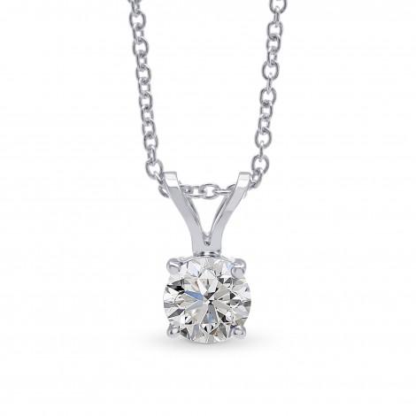 White Round Diamond Solitaire Pendant, SKU 28133R (0.50Ct)