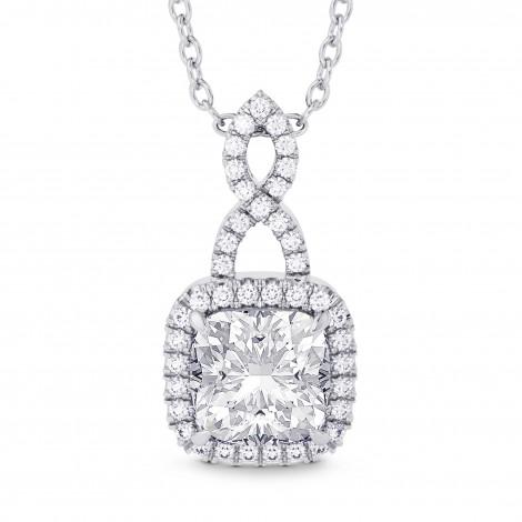 1.50ct  GIA Cushion Diamond Halo & Drop Pendant, ARTIKELNUMMER 28159R (1,68 Karat TW)