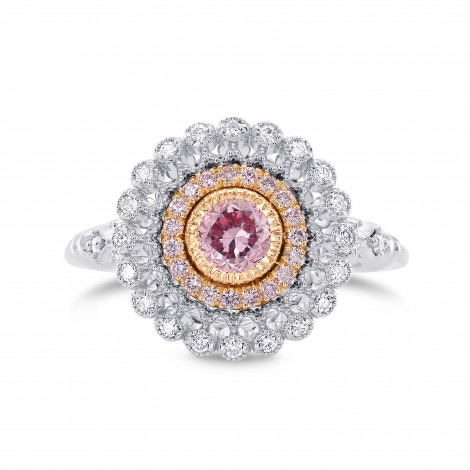 Argyle Fancy Intense Purplish Pink Diamond Couture Ring, SKU 282521 (0.68Ct TW)