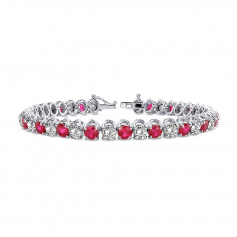 Diamond & Ruby Tennis Bracelet, SKU 28346R (10.93Ct TW)