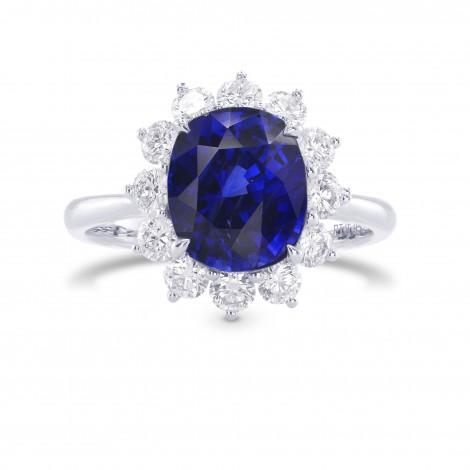 Royal Vivid Blue Sapphire & Diamond (Diana) Ring, SKU 283757 (4.47Ct TW)
