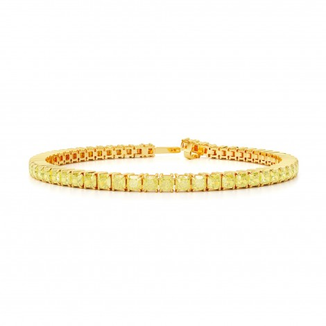 Fancy Yellow Cushion Diamond Tennis Bracelet, SKU 28414V (11.80Ct TW)
