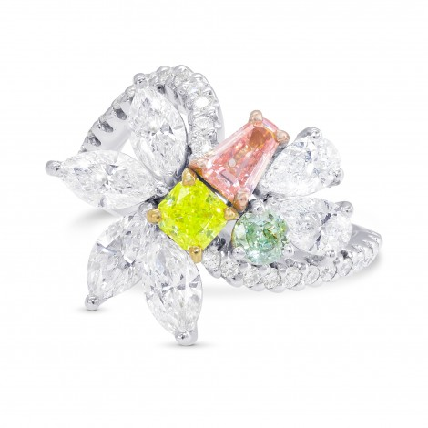 Extraordinary Mix color and Colorless Diamond Ring, ARTIKELNUMMER 28571V (3,75 Karat TW)