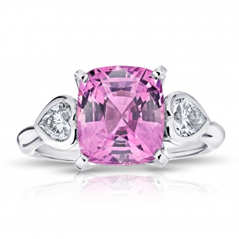 Pink Cushion Spinel  and Diamond Ring, SKU 28889V (4.58Ct TW)
