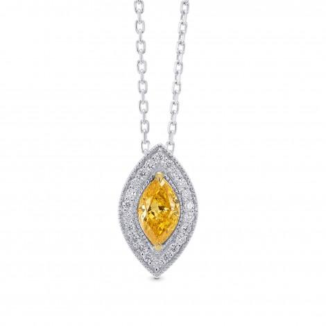 Orange Marquise Diamond Halo Pendant, SKU 289099 (0.52Ct TW)