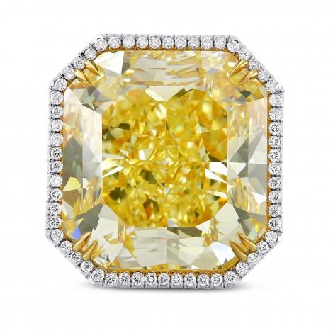 Extraordinary Fancy Yellow Radiant Diamond Ring, SKU 289211 (36.87Ct TW)