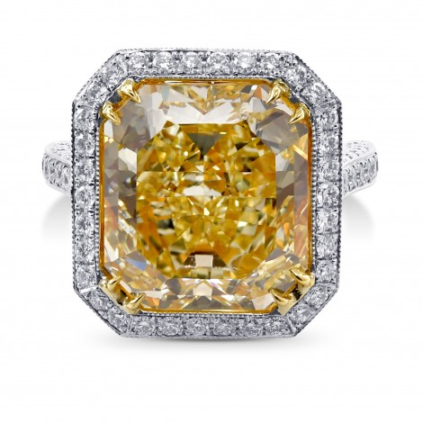 Fancy Yellow Diamond Ring, SKU 28972V (12.03Ct TW)