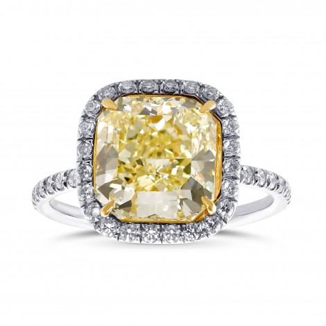Fancy Yellow Radiant Shape Halo Diamond Ring, ARTIKELNUMMER 28977V (4,27 Karat TW)