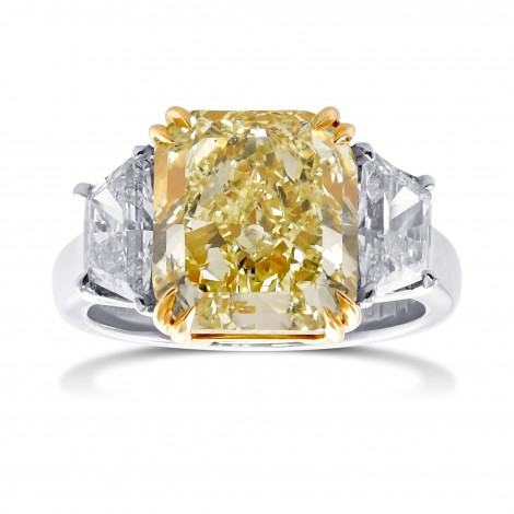 Natural Light Yellow Diamond Ring, SKU 28978V (6.54Ct TW)