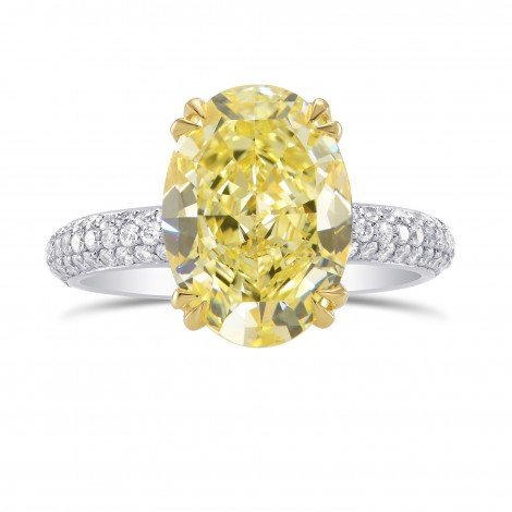 Solitaire & Contoured Pave Side-stone Ring, SKU 2899S