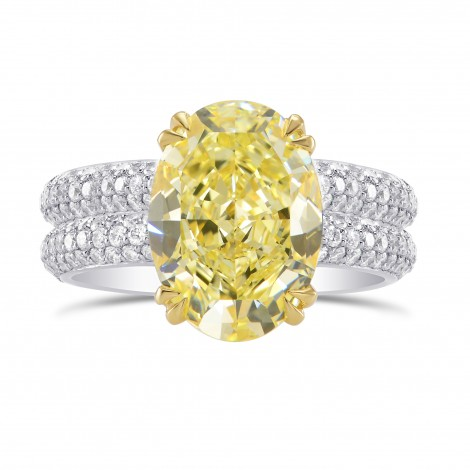 Solitaire & Contoured Pave Side-stone Ring Engagement Wedding Setting, SKU 2899WS