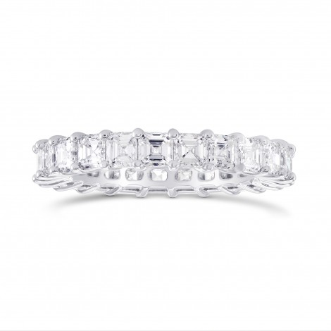 Asscher-cut Diamond Full Eternity Band Ring, SKU 290466 (3.54Ct TW)