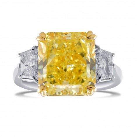 Radiant Vivid Yellow Diamond 3 Stone Ring, SKU 29079V (8.00Ct TW)