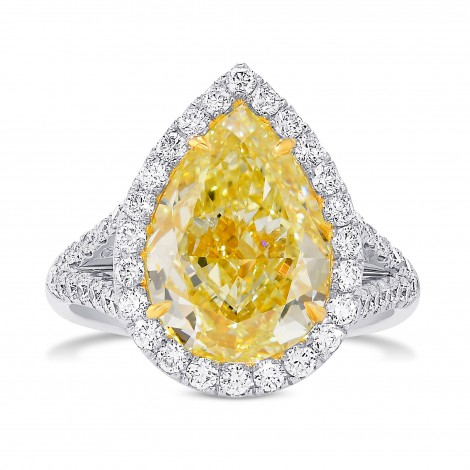Fancy Yellow Diamond Halo Ring, SKU 29136V (5.79Ct TW)