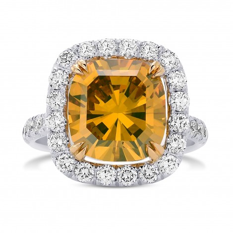 Fancy Orange Yellow Diamond Halo Ring, SKU 29137V (6.29Ct TW)