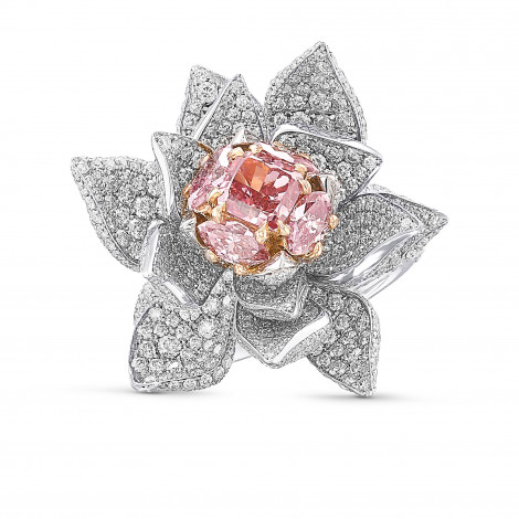 Exceptional Fancy Deep Pink Cushion Diamond Ring, SKU 29340V (6.48Ct TW)