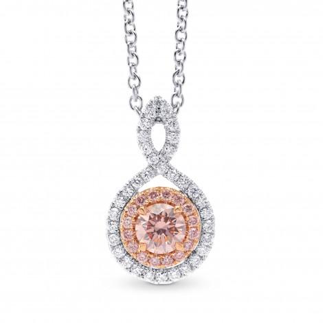 Fancy Pink Round Diamond Drop Pendant, SKU 293504 (0.49Ct TW)