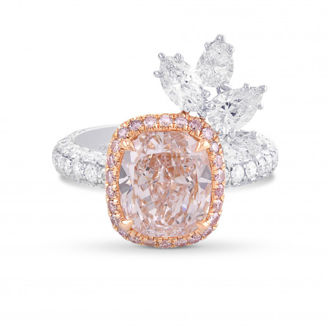 Couture Fancy Light Pink Cushion Halo Diamond Ring, SKU 29555V (5.03Ct TW)