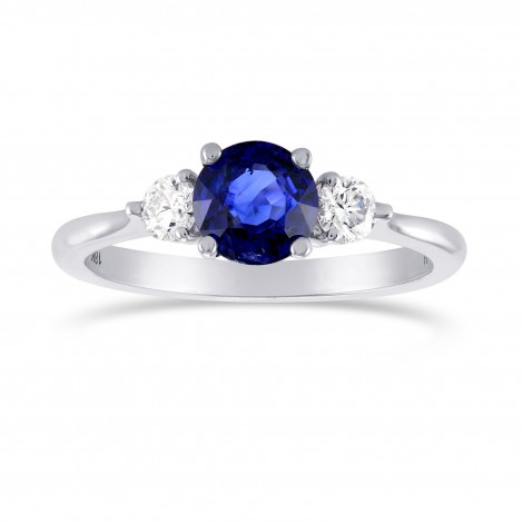 Blue Sapphire and Diamond 3 Stone Ring, SKU 298872 (1.34Ct TW)