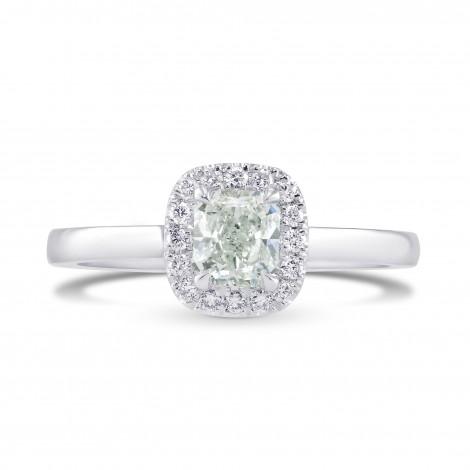 Light Green Radiant Diamond Halo Ring, SKU 301933 (0.86Ct TW)