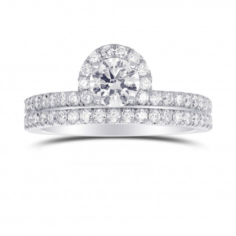Round Brilliant Wedding Set Ring and Band, SKU 302506 (1.07Ct TW)