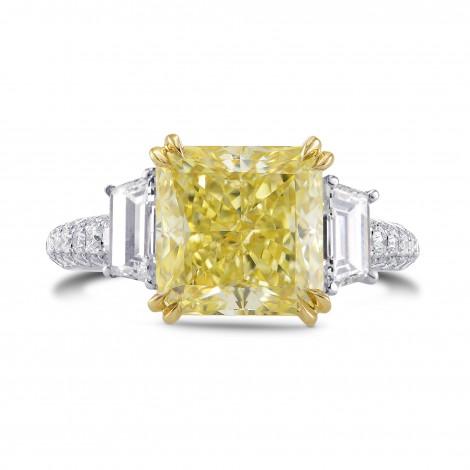 Fancy Light Yellow Radiant & Trapezoid Diamond Ring, SKU 304253 (5.31Ct TW)