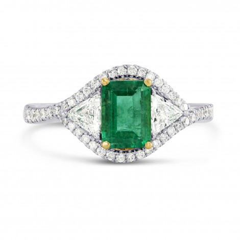 Green Emerald and Diamond Dress Halo Ring, ARTIKELNUMMER 26452R (1,76 Karat TW)