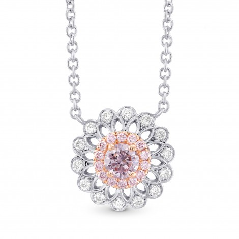 Pink Diamond Filigree Pendant, SKU 306231 (0.34Ct TW)