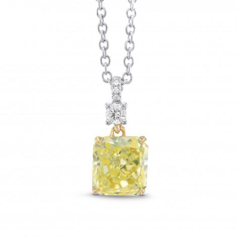 Fancy Yellow Radiant Diamond Drop Pendant, ARTIKELNUMMER 306509 (1,05 Karat TW)