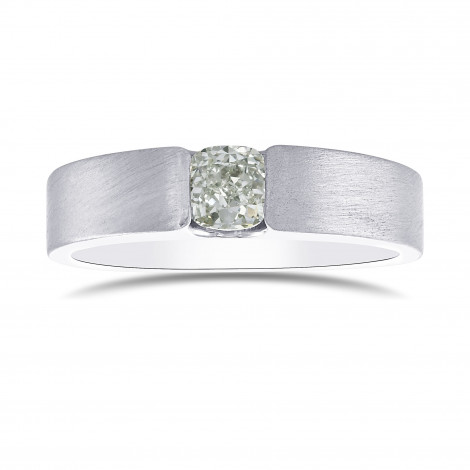 Fancy Light Green Cushion Diamond Solitaire Band, SKU 308756 (0.61Ct)