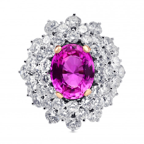 Extraordinary Oval Pink Sapphire and Diamond Ring, ARTIKELNUMMER 313164 (9,30 Karat TW)