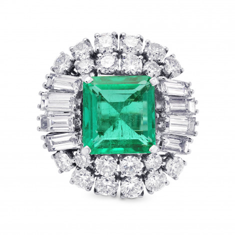 Extraordinary Emerald shape Emerald and Diamond Ring, ARTIKELNUMMER 313167 (9,69 Karat TW)