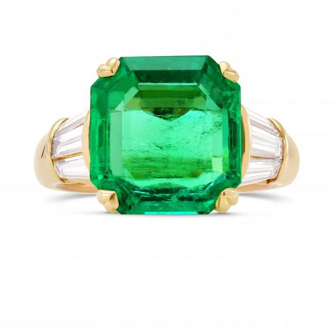 Extraordinary Green Emerald and Diamond Side stone Ring, ARTIKELNUMMER 313172 (9,11 Karat TW)
