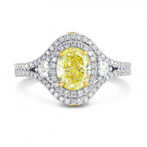Oval and Half-Moon and Diamond Double Halo Ring, ARTIKELNUMMER 3195S